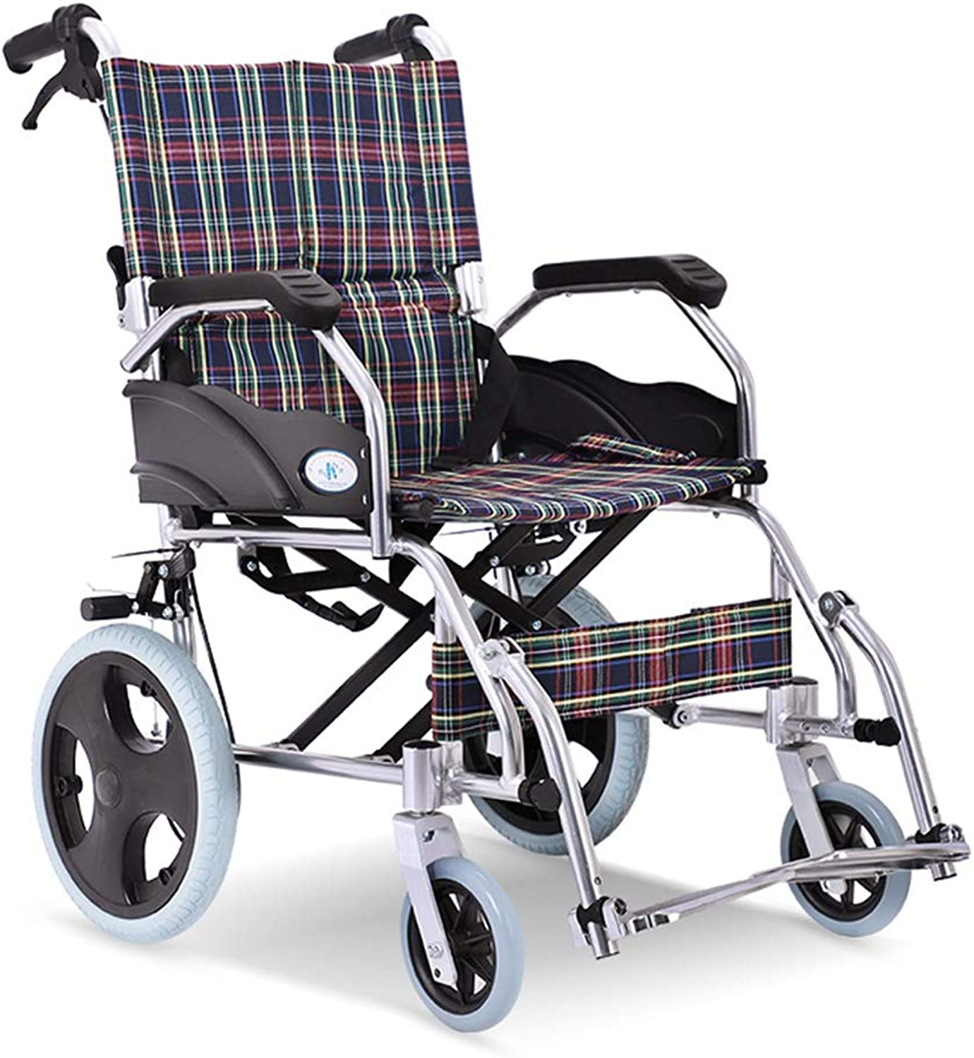 Aluminum Alloy Wheelchair Folding Wheelchair UltraLightweight Elderly Chair Old People's Trolley Transport Chair Loading Weight 100kg