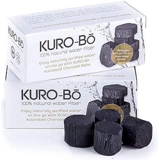 Kuro-bo Binchotan Charcoal Water Bottle Filter Stick Koins | Filters Up To 32 fl. oz | 2-pack