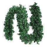 <span class='highlight'><span class='highlight'>Librao</span></span> 270cm Christmas Green Garlands Decorations Green Artificial Hanging Fireplace Stair Garden Yard Flower Wreath Decors 9ft