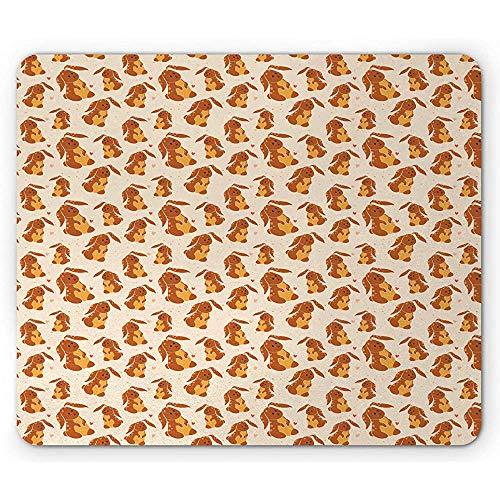 Kaninchen-Mausunterlage, Ostern-Schokoladen-Kaninchen-Frühlingszeit-Feiertag Cutsy Tier, 25 X 30 cm Rutschfestes GummiMousepad