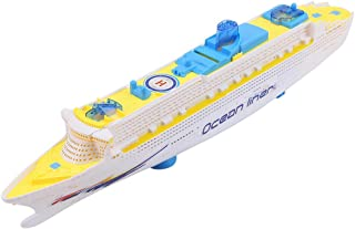 Boat Bath Toys for Kids Beach Bathtub Ship Toys Electric Ocean Liner Cruise Ship Flashing LED Light Kids Musical Early Educational Toy