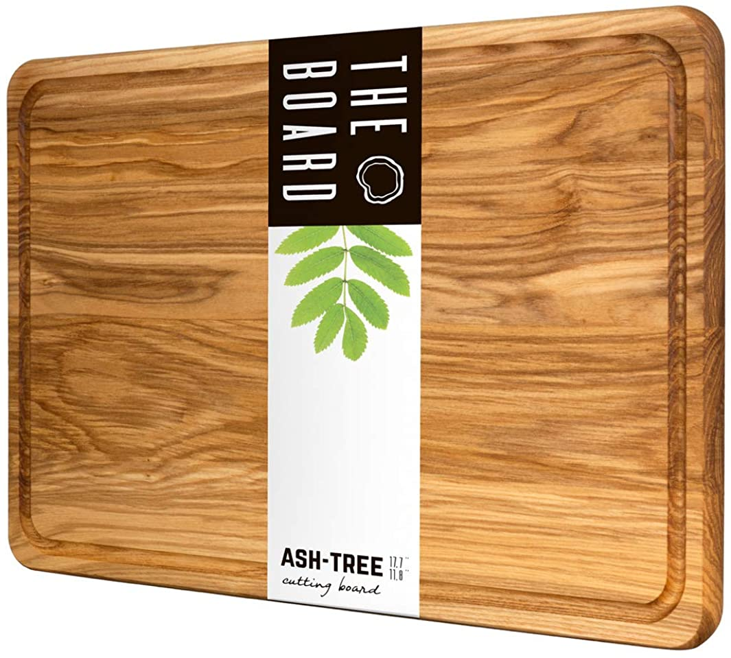 Wood Cutting Board Large Cutting Board B.Brown Original American Cutting Board Great For Serving and Chopping (11.5x17.5 In)
