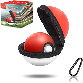 Case for Pokeball Plus, VORI Portable Carrying Case for Nintendo Pokemon Plus Switch Controller, Protective Hard Storage Bag with Detachable Carabiner for Pokémon Let's Go Pikachu Eevee Controller
