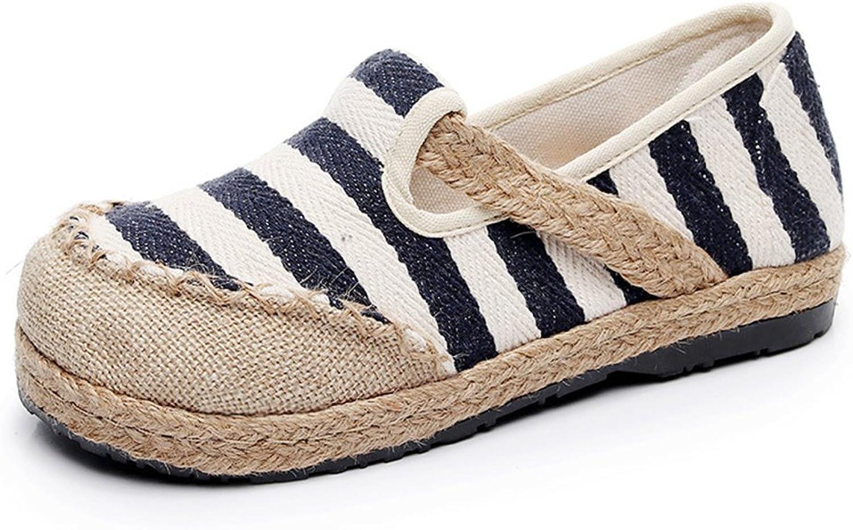 IINFINE Women Espadrille Flats, Original Slip on Loafer shoes Smocking Slippers