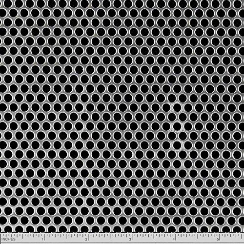 """Online Metal Supply Carbon Steel Perforated Sheet 0.030"""" x 12"""" x 24"""", 3/16"""" Holes"""