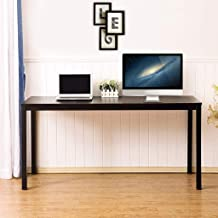 Coffee Table Rustic Style Solid Wood Rectangle Modern Desktop Computer Desk,Unine Farmhouse Study Desk,Simple Stand Laptop Sofa Table TV Tray Couch for Living Room Hallway Bedroom Workstation (S)