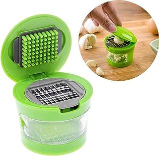GaowenhappyShop Triturador de ajo Acero Inoxidable Ensalada de Frutas Verdura Cebolla Picadora de Manos Ajos Prensas Aplasta Gadgets de Cocina
