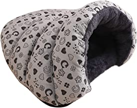 SFE Pet Nest Bed for Dog Cat Winter Fleece Covered Hooded Improved Sleep Pet Cave Non-Slip Odor Remover Pet Mat