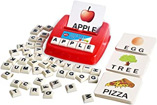 BOHS Literacy Wiz Fun Game - Upper Case Sight Words - 60 Flash Cards - Preschool Language Learning Educational Toys