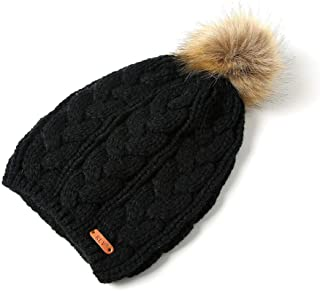 KFEK Autumn and Winter Models Eight-Word Twist Imitation Scorpion Big Hair Ball Knit hat Men and Women Outdoor hat
