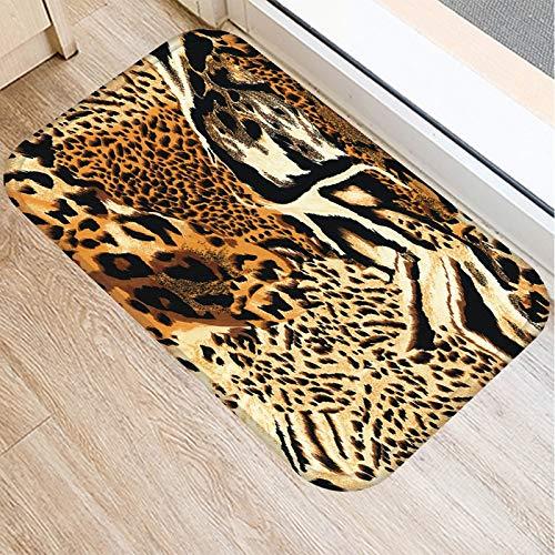 OPLJ Alfombra de Puerta de Entrada de Cocina con Estampado de Leopardo Alfombra de Color Alfombra de Suelo Interior Alfombra Antideslizante Alfombra de Puerta A8 40x60cm