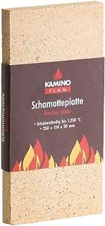 Kamino-Flam – Plancha chamota (25/12,4/2 cm), Placa protectora para chimenea, estufa, horno, Panel aislante, Plancha refractaria, Panel ignífugo – resistente a altas temperaturas hasta 1250°C