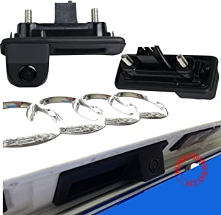 Greatek オートHD CCDリアビューカメラ(ナンバープレート付)170°広角レンズ付パーキング援助NTSC、リアビューカメラ専用車にナンバープレートライト内蔵,モデルに合うアウディ Audi A1 VW Skoda Roomster Fabia Yeti Octavia II 1Z 2 car camera