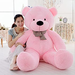 MorisMos Giant Cute Soft Toys Teddy Bear for Girlfriend Kids Teddy Bear (Pink, 55 Inch)