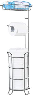 トイレラック トイレットペーパースタンド自立式 予備収 補助便座スタンド 収納 ラック トイレ用 トイレ収納 トイレットペーパーボックス ペーパーストッカー ペーパーホルダー ペーパースタンド おしゃれ 小物入れ 雑貨 インテリア シルバー