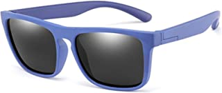 ZHHAO - ZHHAO Niños Gafas de Sol Polarizadas Polarizadas Formas Plaza Muchachas Eyewear Infantil UV400 Protección Gafas de Sol Edad 2-14 (Gris Azul)