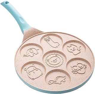 Griddle Pan - Pancake Mold Pan with 7-Cup Pancake Maker - Mini Grill Pan Nonstick Pancake Pan - Pancake Griddle with Silicone Spatula,Blue
