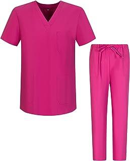 Pijama Sanitario Conjuntos Uniformes Sanitarios Unisex - Uniformes Medicos (Antilejía y No Destiñe)