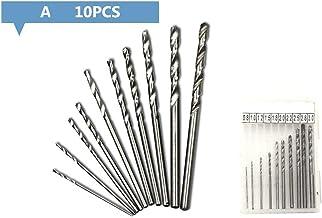 Kongqiabona-UK 0.8-3.0mm Brocas helicoidales Taladro Manual HSS Broca de Tornillo Cortadora de Sierra para carpintería