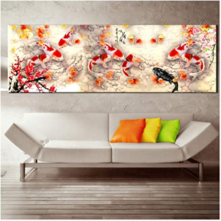 Chinese Painting Scenery HD 5 Piece Canvas Wall Art Print Poster Home Decor