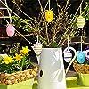 Naler Set di 12 Uova Pasquali Colorate Finte Uova da Appendere Pasquali Uova di 4 Colori Decorazioni di Festa Pasqua, 4X6CM #3