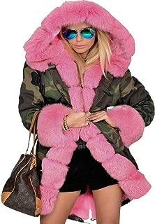 Women Thicken Warm Camouflage Fashion Skiing Lightweight Winter Coat Hooded Parka Jacket