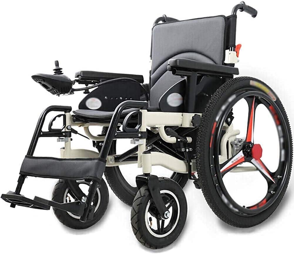MQJ Silla de Ruedas Eléctrica de la Rueda para Los Ancianos, Plegable Scooter Portátil para Los Discapacitados, la Silla de Ruedas Eléctrica Multifuncional