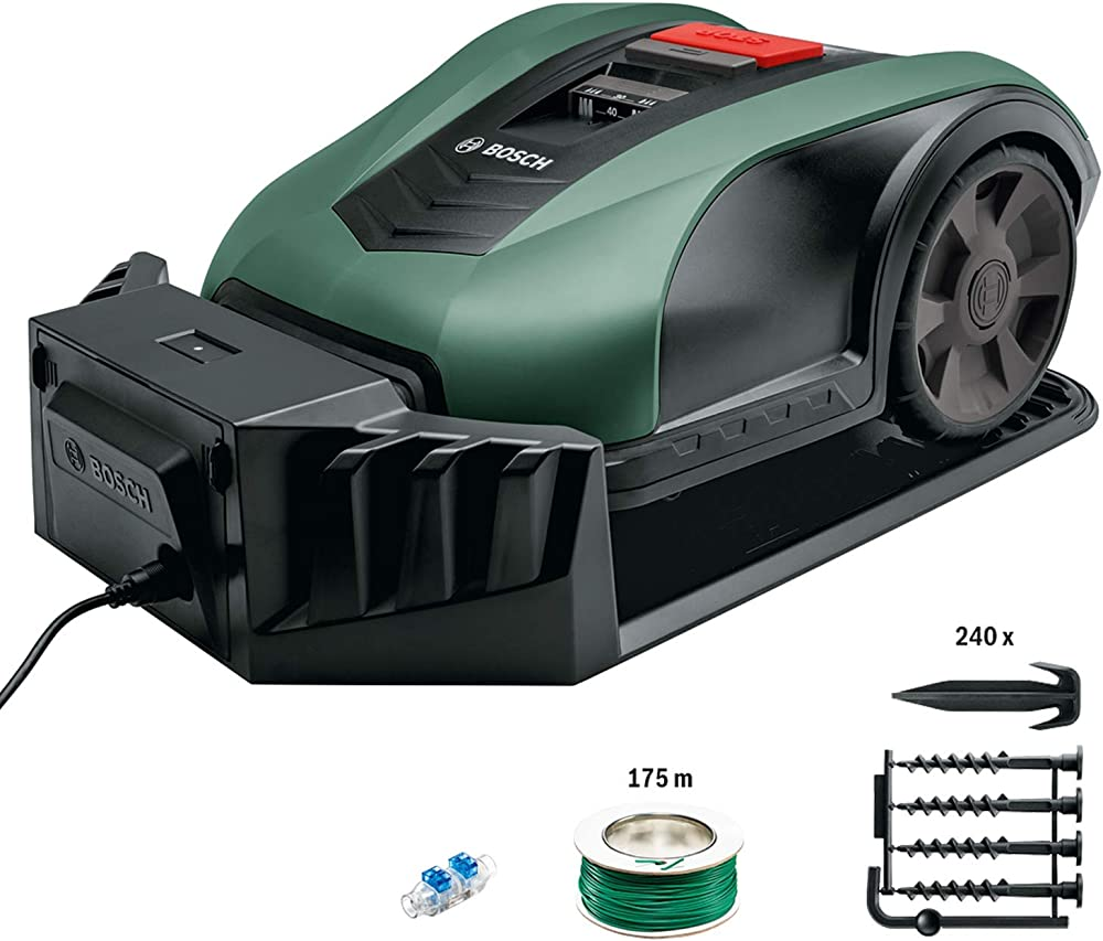 Bosch Lawn and Garden Indego Robot cortacésped ancho de corte 19 cm, Verde, 700 m2