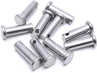 TOUHIA M8x25 Zinc-Plating Steel Flat Head Single Hole Clevis Pins 10 Pcs