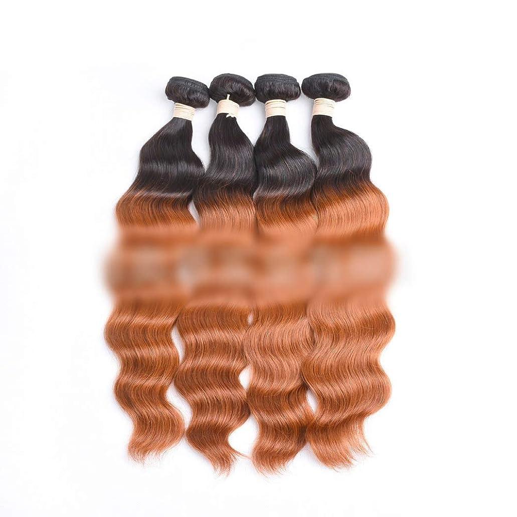 肉腫マラドロイト巻き戻すYrattary ブラジルのオーシャンウェーブヘア1バンドル未処理の人毛エクステンション - #30ブライトブラウン (色 : ブラウン, サイズ : 20 inch)