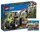Trattore forestale Lego City 60181 + Operaio manutenzione stradale Lego City 30357 - Giocattoli per bambini