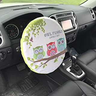 Alusbell Steering Wheel Cover Universal Fit UV Proof Sun Shade (3 OWL)