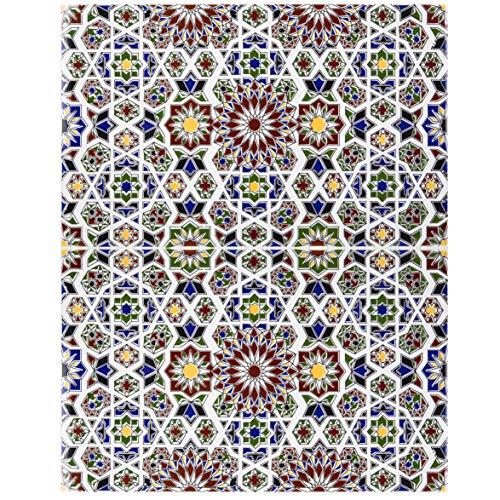 Cerames Marokkaanse wandtegels keramische tegel Oosterse Marwa | 25 x 40 cm 1m2 | mozaïekpatroon, muurose tegels | Mooie decoratie in badkamer & keukenachterwand