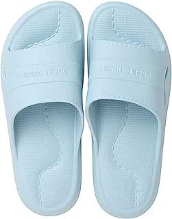 Open Toe House Slippers, Men's Beach Non Slip Sandal, Bathroom Shower QuickDrying Slippers Indoor,Blue,L