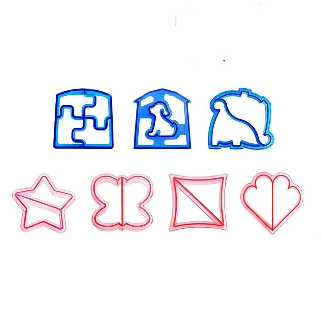 正確に無許可魅力的であることへのアピールVipe キッズDIYランチサンドイッチケーキブレッドカッター型犬ゾウ恐竜型メーカー 1.8x0.8inch マルチカラー Vipe_Xy