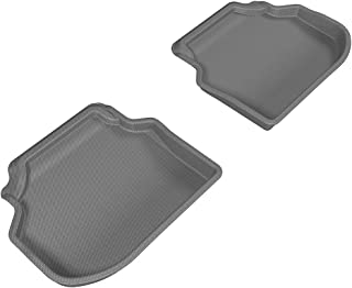 3D MAXpider Second Row Custom Fit All-Weather Floor Mat for Select BMW 5 Series (F10) Models - Kagu Rubber (Gray)