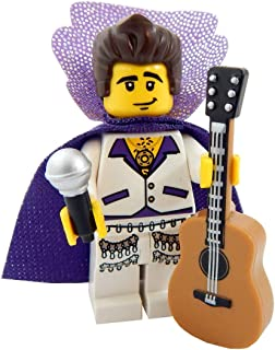 LEGO King of Rock and Roll with Guitar and Microphone Toy - Custom Singer Musician Minifigure