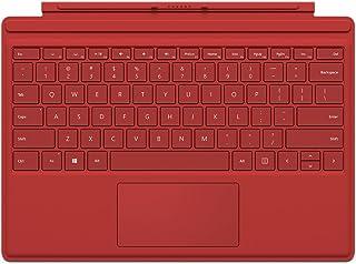 Microsoft QC7-00005 Cover Port Rojo Teclado para móvil - Teclados para móviles (Rojo, Surface Pro 4, Touchpad, Base, Acopl...