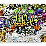 murando - Fototapete 350x256 cm - Vlies Tapete - Moderne Wanddeko - Design Tapete - Wandtapete - Wand Dekoration - Graffiti Streetart f-A-0348-a-d