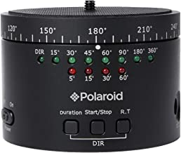 Polaroid Electronic Panorama Ball Head for GoPros, Smartphones, Digital Cameras & DSLRs – Adapters Included