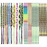 Elcoho Colorful Friendship Bracelets Handmade Mix 30 Pieces Various Styles Woven Bracelets for Wrist Anklet