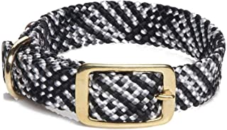 "Mendota Double-Braid Collar, Salt & Pepper, 1"" Up to 24"""