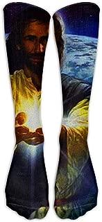 Purple Chrysanthemum Casual Socks Crew Socks Crazy Socks Soft Breathable For Sports Athletic Running