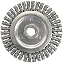 Weiler 804-79801 Dually Stringer Bead Knot Wire Wheel, 4 1/2 Diameter x 3/16 Width, 5/8-11 UNC, 0.02 Carbon Steel, 15000 rpm (Pack of 5) by Weiler