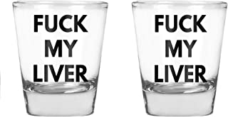 CBTwear - Fuck My Liver - Funny Birthday Gift- College Drinking Humor - 1.75 OZ Shot Glass (2)