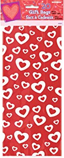 Hearts Afire Valentine's Day Cellophane Bags, 20ct
