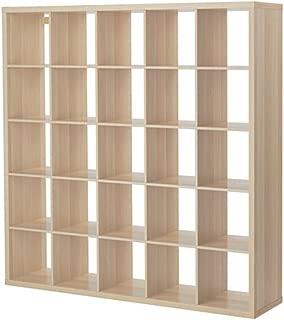 IKEA/イケア KALLAX/カラックス シェルフユニット182x182 cm ホワイトステインオーク調 (303.629.19)