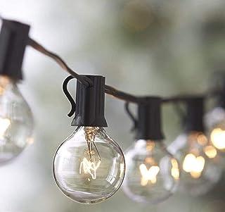 2-Pack Lemontec String Lights, 25FT Vintage Backyard Patio String Light with 25 Clear..