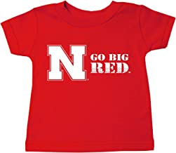 Two Feet Ahead NCAA Nebraska Cornhuskers Children Unisex Short Sleeve Tshirt,12M,Red
