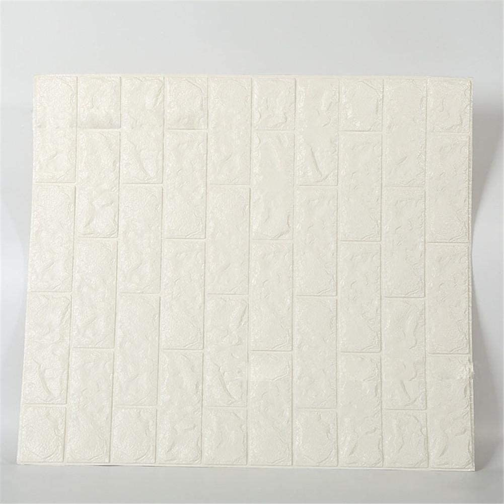 Fghuim 6 Pcs 3D White Wallpaper Wall In a popularity Baltimore Mall Panels Brick Stic